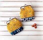Peňaženky - Peňaženka Sovy v kvietkoch - M - 10143025_