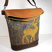 """Veľké tašky - Vyšívaná kabelka """"...s jeleňom"""" - 10144900_"""
