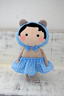 Hračky - Macko v modrej sukničke - 10148070_