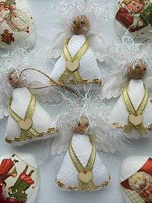 Dekorácie - Vianočný Zlatý Anjeli. - 10145054_