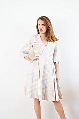 Šaty - Bavlnené pastelové šaty s romantickou krajkou - 10147584_
