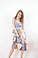 """Šaty - Farebné bavlnené """"fľakaté"""" šaty ako z expresionizmu - 10147819_"""