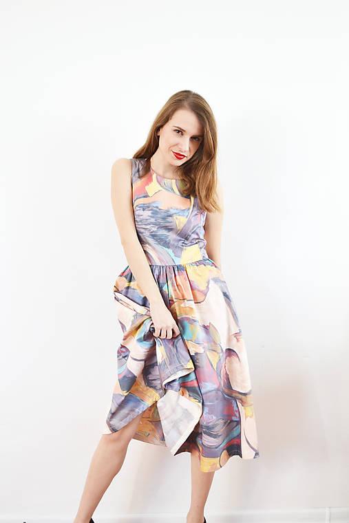 """Farebné bavlnené """"fľakaté"""" šaty ako z expresionizmu   VivienMihalish ... 6765b4e9c30"""