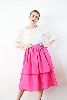 Sukne - Hodvábna sukňa sťa z lupienkov ruží - 10147514_
