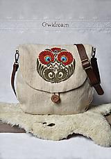Kabelky - BOHO konopná taška s ručnou výšivkou •Vesna• - 10144957_