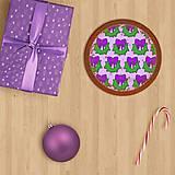 Grafika - Vianočné grafické perníky so vzorom - vianočný veniec - 10147501_