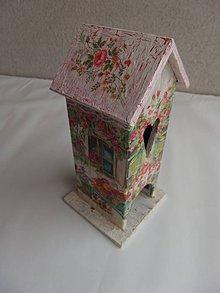 Krabičky - dreveny domcek na cajove vrecuska - 10145428_