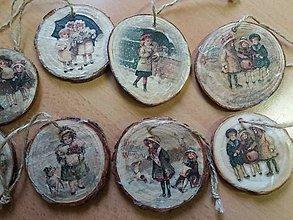 Drobnosti - drevené vianočné ozdoby - 10150307_