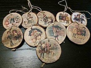 Drobnosti - drevené vianočné ozdoby - 10150338_