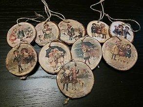Drobnosti - drevené vianočné ozdoby - 10150348_