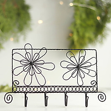 Nábytok - vešiak s kvetmi - 10149634_
