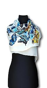 Šatky - Hodvábna šatka – Les papillons - 10151550_