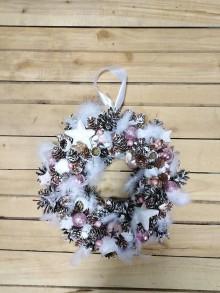 Dekorácie - Vianočný veniec ružová príroda - 10150714_