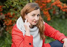 Šatky - Dámska pletená šatka, OEKO-TEX® - Rôzne farby - 10149110_