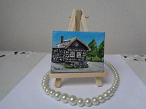 Obrazy - Čičmiansky domček - mini - 10149545_