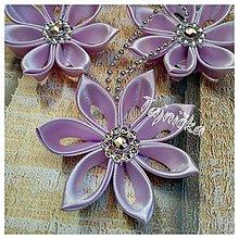 Dekorácie - Vianočné ozdoby fialové 10 ks - 10151811_