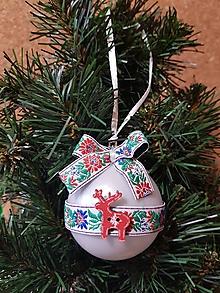 Dekorácie - folklórne gule na stromček so sobíkom - 10149045_
