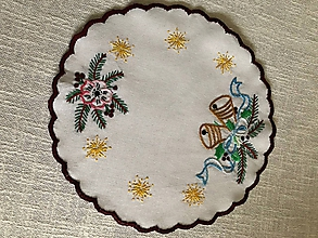 Úžitkový textil - Vianočný obrúsok - 10149685_