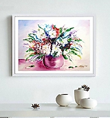 Obrazy - Kvety leta-abstrakcia - 10149929_