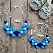 """Náhrdelníky - Set silikónových náhrdelníkov mama a dcéra """"Na ľudovú nôtu"""" - 10150562_"""