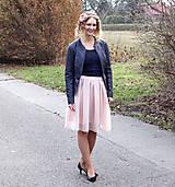 Sukne - Starorůžová splývavá tylová sukně-SKLADEM - 10149731_