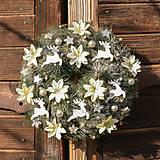 Dekorácie - Zimný veniec na dvere - 10151027_