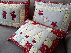 Úžitkový textil - Vankúše zo Zimnej krajinky - 10148855_
