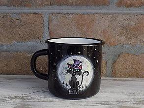 Nádoby - Smaltovaný hrnček - Vampyre Cat - 10150025_