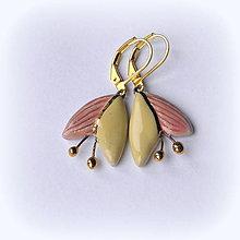Náušnice - keramické náušnice - Kvietky s tyčinkami - 10149963_