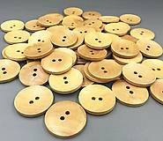 Galantéria - G127 Gombík drevený veľký 3,5 cm - 10150554_
