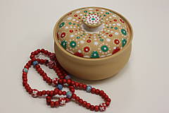 Náhrdelníky - Červený drevený náhrdelník - 10148831_