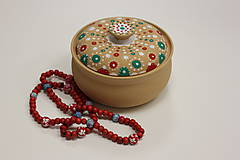 Náhrdelníky - Červený drevený náhrdelník - 10148843_