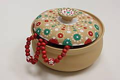Náhrdelníky - Červený drevený náhrdelník - 10149482_