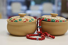 Náhrdelníky - Červený drevený náhrdelník - 10149485_