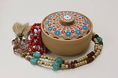 Náhrdelníky - Strapcový bohémsky náhrdelník - 10150132_