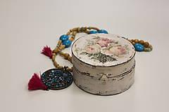 Náhrdelníky - Tyrkysový strapcový boho náhrdelník - 10150171_