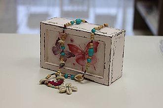 Náhrdelníky - Prírodný boho náhrdelník s náramkom - 10150127_