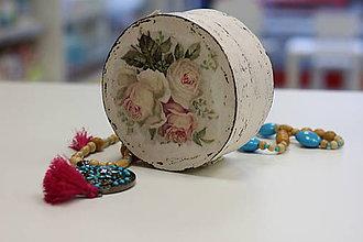 Krabičky - Vintage šperkovnica Ruže - 10150231_