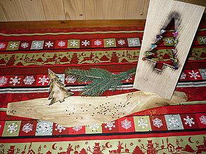 Dekorácie - vianocna dekoracia 2 stromceky v lese - 10151367_