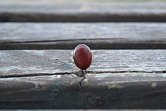 Prstene - Jaspis prsteň z ocele - 10149714_