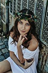 Ozdoby do vlasov - Prírodný lesný venček - 10150512_