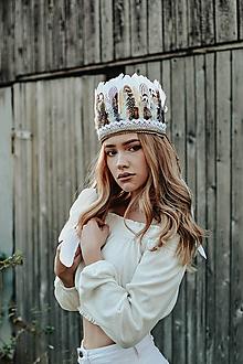 Ozdoby do vlasov - Romantická prírodná bohémska čelenka - 10150623_