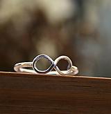 Prstene - Nekonečno - strieborný prsteň  - 10150177_