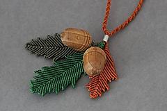 Náhrdelníky - Macramé náhrdelník - 10150544_