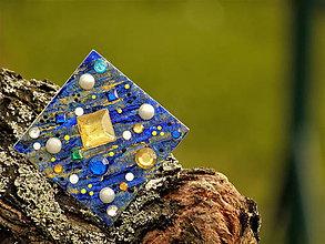 Odznaky/Brošne - Galaktický švorec modrozlatý - 10152343_