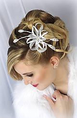 Ozdoby do vlasov - Svatební ozdoba Zina - 10148953_