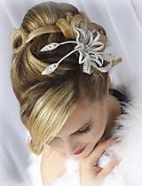 Ozdoby do vlasov - Svatební ozdoba Zina - 10148959_