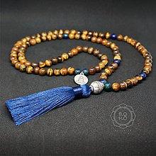 Náhrdelníky - Náhrdelník MALA - TIGRIE OKO, AZURIT - 10149884_