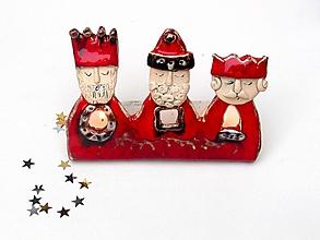 Svietidlá a sviečky - svietnik  traja králi - 10150226_