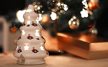 Svietidlá a sviečky - Stromček svietiaci veľký - vianočný - 10149813_